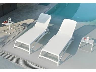 Nardi Atlantico Sling Fiberglass Resin Bianco Lounge Set NARNRATLNTCOLNGSET2