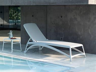 Nardi Atlantico Sling Fiberglass Resin Bianco Lounge Set NARATLNTCOLNGSET3