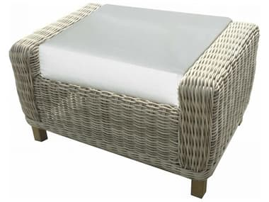 Forever Patio Aberdeen Rye Wicker Rectangle Ottoman NCFPABEORECRYE