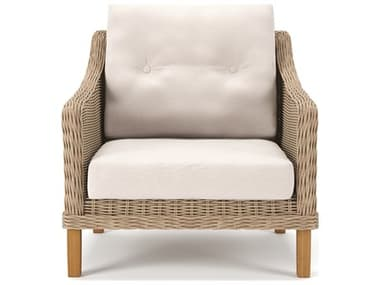 Forever Patio Carlisle Wicker Alabaster Lounge Chair NCFPCARCAL