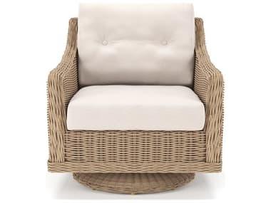 Forever Patio Carlisle Wicker Alabaster Swivel Rocker Lounge Chair NCFPCARSRAL