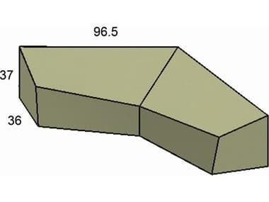 Forever Patio Cover for 5 Piece Hampton L-Shape Sectional NCFPHAM5SECFC