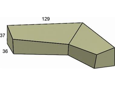 Forever Patio Cover for 6 Piece Hampton L-Shape Left-Shape Sectional NCFPHAM6LSECFC
