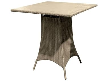 Forever Patio Universal Wicker Universal 36'' Wide Square Glass Top Bar Height Table NCFPUNIPT42