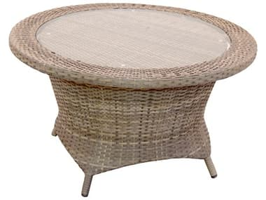 Forever Patio Universal Wicker 36'' Wide Round Rotating Glass Top Chat Table NCFPUNIRCHT