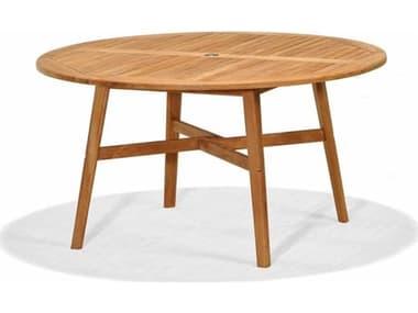 Forever Patio Universal Teak Plantation 55'' Wide Round Dining Table NCFPUNIT2030DT55TEAK
