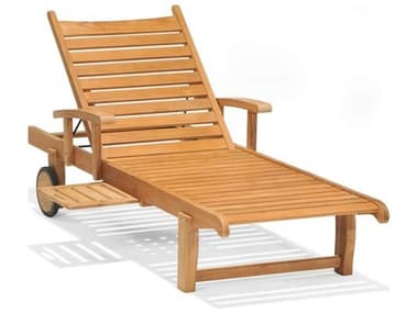 Forever Patio Universal Teak Plantation Adjustable Chaise Lounge with Arm NCFPUNIT2030SACLATEAK