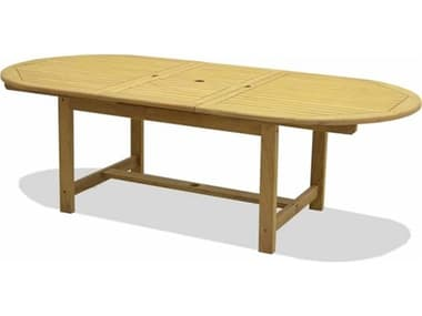 Forever Patio Universal Teak Plantation 67''W x 41''D Oval Dining Table Dining Table NCFPUNIT2085DT67TEAK