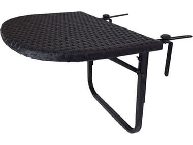 Oakland Living Black Wicker Counter Table with Adjustable Clamps OL52BALCONYTABLEBK