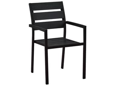 Oakland Living Black Steel Faux Wood Dining Arm Chair OL701CHAIRBK