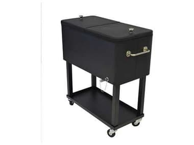 Oakland Living Steel 20-Gallon Party Cooler Cart with 360 degree rolling OL90010BK