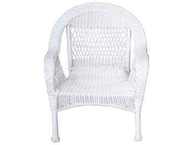 Oakland Living White Wicker Dining Arm Chair OL9999CHAIRWT