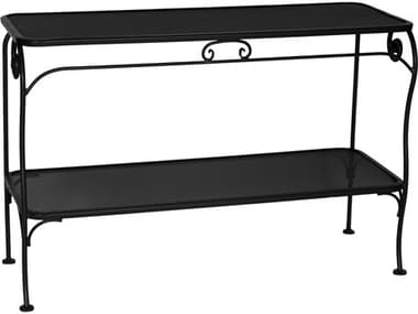 OW Lee Micro Mesh Wrought Iron 48 x 18 Rectangular Console Table OW1848MMWT