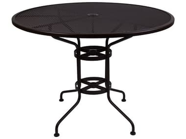 OW Lee Micro Mesh Wrought Iron 48 Round Counter Table with Umbrella Hole OW48MMCTU