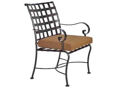 OW Lee Classico-Wide Arms Wrought Iron Dining Chair OW953AW