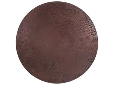 OW Lee Hammered Copper Stone 24 Round Table Top OWCP24
