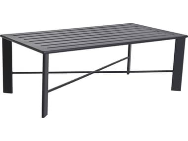 OW Lee Modern Aluminum 50 x 28 Rectangular Slatted Top Coffee Table OWMA2850OT