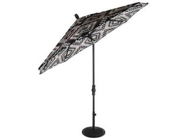 OW Lee Market Pendalton Aluminum 9' Collar Tilt Umbrella OWPDU9MK