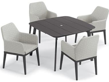 Oxford Garden Oland Carbon Aluminum Dining Set OXF6119PCC