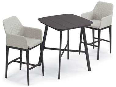 Oxford Garden Oland Carbon Aluminum Dining Set OXF6120PCC
