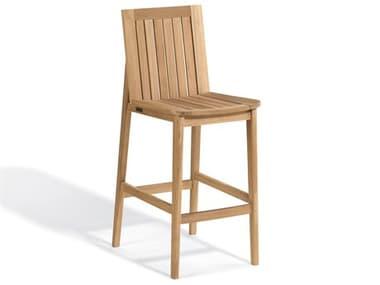 Oxford Garden Islay Natural Teak Wood Bar Chair OXFIBCHK