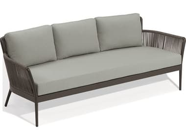 Oxford Garden Nette Aluminum Carbon / Seafoam Sofa OXFNTRSOPSF