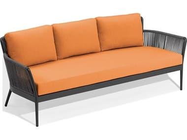 Oxford Garden Nette Aluminum Carbon / Tangerine Sofa OXFNTRSOPTG
