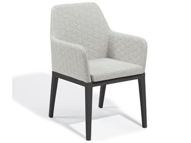 Oxford Garden Oland Carbon Aluminum Cushion Dining Chair OXFOLCHQ5402PCC