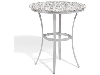 Oxford Garden Travira 36'' Wide Aluminum Round Bar Table OXFTV36FBRROUCAFEBARTABLE