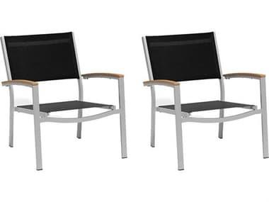 Oxford Garden Travira Aluminum Sling Lounge Chair (Set of 2) OXFTVCAS2CHATCHAIR