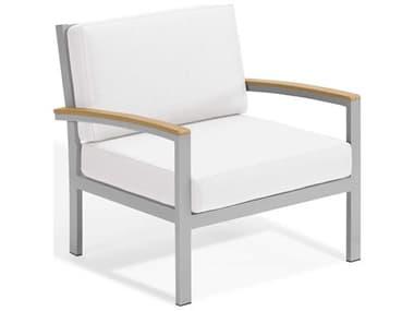 Oxford Garden Travira Aluminum Cushion Lounge Chair OXFTVCCNCLUBCHAIR