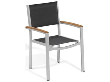 Oxford Garden Travira Aluminum Sling Dining Chair (Set of 2) OXFTVCHS2SLINGSEATARMCHAIR
