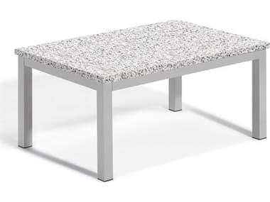 Oxford Garden Travira 41'' Wide Aluminum Rectangular Coffee Table OXFTVTACOFFEETABLE