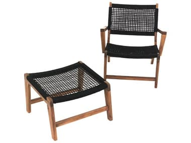Axcess Inc. Broad Rope Lounge Chair with Footrest PABRDRCFWB