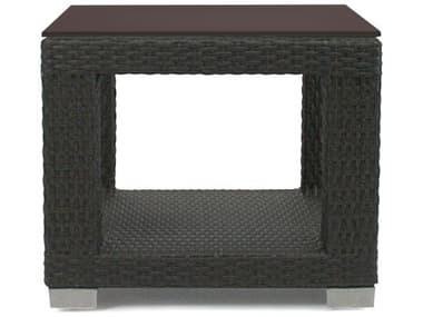 Axcess Inc. Signature Square End Table w/ Glass PASIGB1ETS