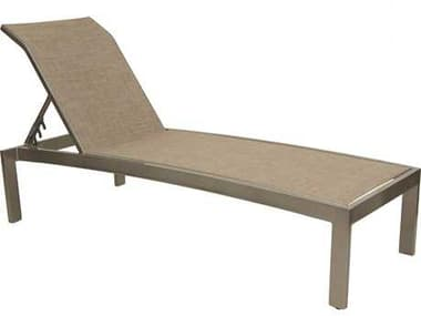 Castelle Orion Sling Dining Cast Aluminum Adjustable Chaise Lounge PF1072