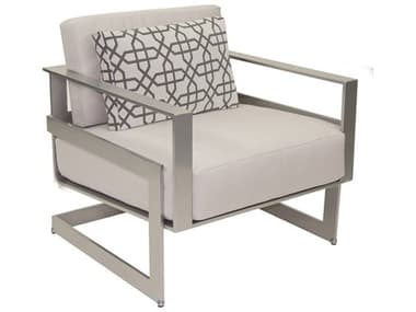 Castelle Eclipse Deep Seating Cast Aluminum Cushion Lounge Chair with One Pillow PF1710R