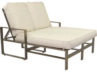 Castelle Park Place Cushion Dining Cast Aluminum Adjustable Double Chaise Lounge PF2252T