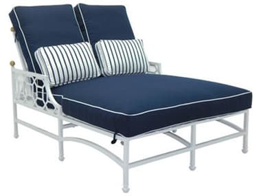 Castelle Barclay Butera Signature Cushion Dining Aluminum Adjustable Double Chaise Lounge PF6252T