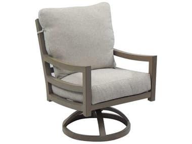 Castelle Roma Cushion Dining Aluminum Swivel Rocker Dining Arm Chair PF9607R
