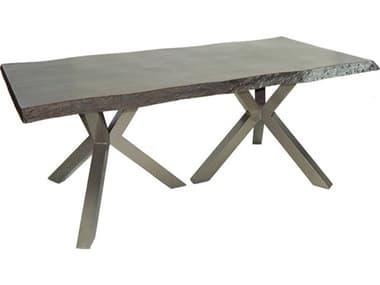 Castelle Altra Aluminum 84''W x 44''D Rectangular Counter Table PFAREK84