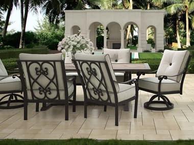 Castelle Bellanova Cushion Cast Aluminum Dining Set PFBELLACSHDIN