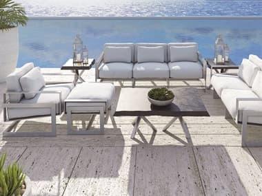 Castelle Eclipse Deep Seating Cast Aluminum Lounge Set PFECLPDSLNGSET
