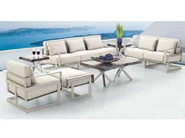 Castelle Eclipse Deep Seating Cast Aluminum Lounge Set PFECLPDSLNGSET1