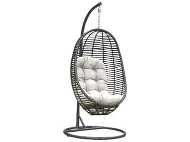 Panama Jack Graphite Wicker Cushion Swing PJPJO1601GRY2HC
