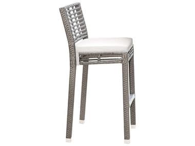 Panama Jack Graphite Wicker Cushion Bar Stool PJPJO1601GRYBS
