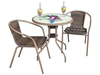 Panama Jack Cafe Steel Dining Set PJPJO9001ESP3PP