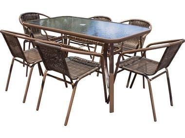 Panama Jack Cafe Steel Dining Set PJPJO9001ESP7DA