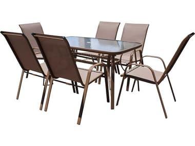 Panama Jack Cafe Steel Dining Set PJPJO9001ESP7DH