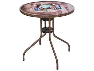 Panama Jack Cafe Steel Round Bistro Table PJPJO9001ESPBTC